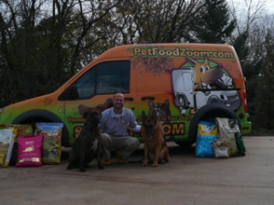 Tom Pantano, owner of PetFoodZom.com, delivers pet food and more to your door.